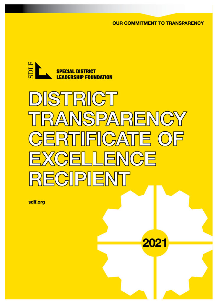 Transparency Certificate of Excellence Recipient